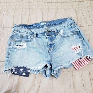Old Navy Flag Jean Shorts